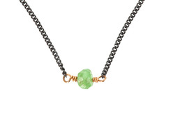 Kids & Teens Green Beryl Bead Necklace
