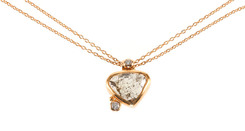 Three Diamond Necklace