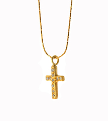 Diamond Pave Cross Necklace
