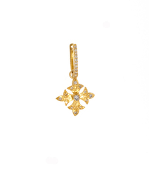 Diamond Pave Maltese Cross Earrings