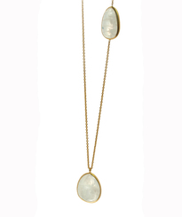 Two Stone Moonstone Necklace