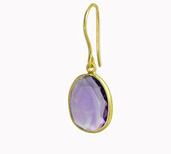 Single Stone Amethyst Earrings