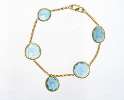 Five Stone Aqua Bracelet