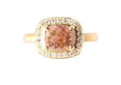 Cushion Brown Diamond Ring