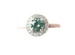 Round Green Tourmaline Ring